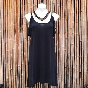 LUCKY BRAND Charcoal Cold-Shoulder Dress NWT XS